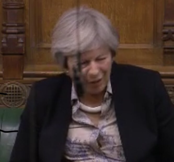 "The face of former PM @theresa_may is an absolute picture when @michaelgove tells her British people would be safer from crime and terrorism if the government fails to agree crime and security agreements with EU. She could seen saying ""what?!!!!!"""