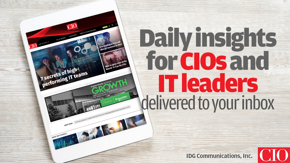 Don't miss a single story. Sign up for @CIOonline's newsletters to stay on top of hot technology trends, hiring and staffing strategies, and tech innovations. https://t.co/7XkyFlIBOm #CIO #ITleader #technews https://t.co/ul4Z3odjZq