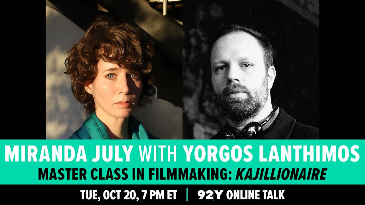 """I don't know about """"master class"""" but if you would like to hear two friends talk about their jobs please join us tomorrow. Yorgos made The Favourite, The Lobster, Alps, Dogtooth and that @gucci campaign with the horses. We like to bother each other. @92Y https://t.co/iKA5YZdIHu https://t.co/BVTyQHgUFU"""