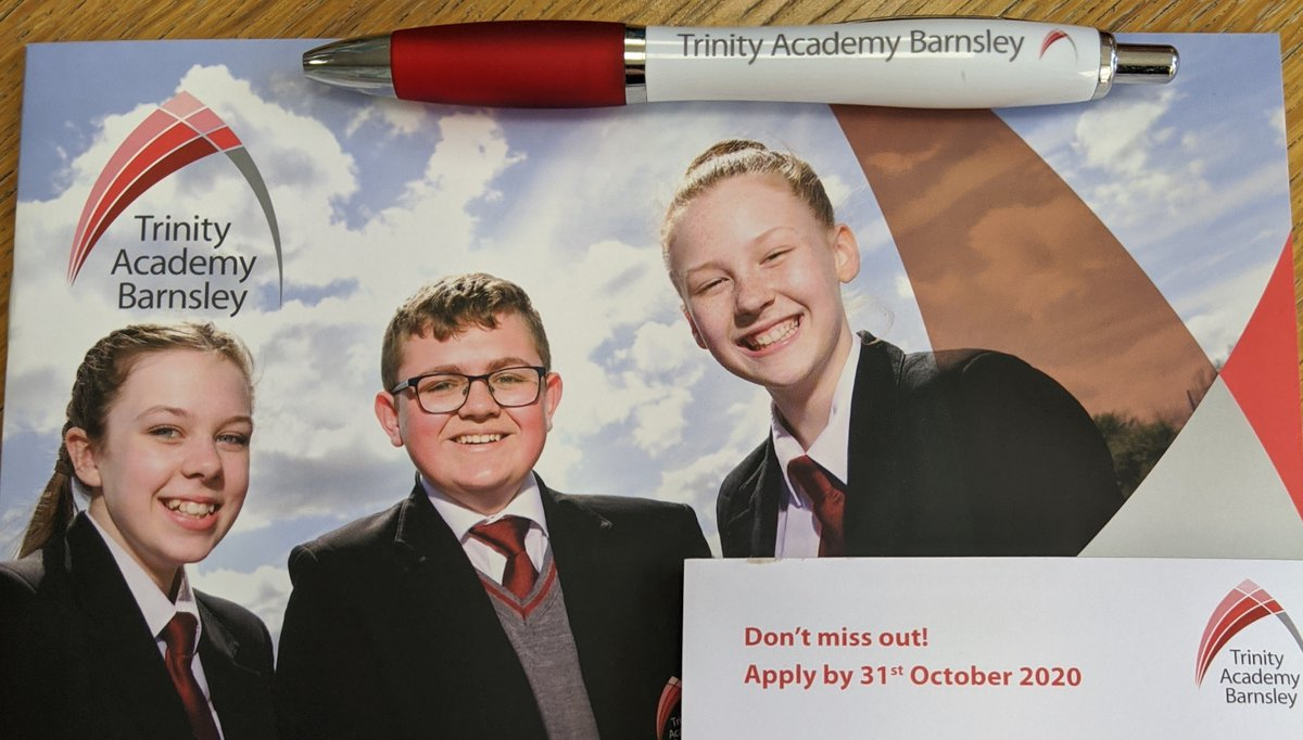 With the application deadline for a 2021 #Year7 place fast approaching, why not check out our prospectus for some more info on our NEW #Barnsley school!   🔺 Prospectus: https://t.co/GngBzlHWs0  🔺 Apply now: https://t.co/XKkN9AUNKv  ⏰ Apply by 31st October for a Year 7 place!