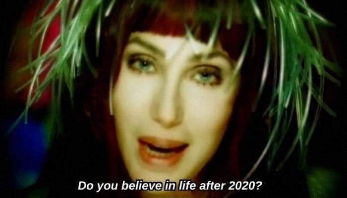 @cher Hello my goddess !!! We are all wondering, do you believe in life after 2020 ??? Greetings from Argentina, we love you!  #cher #goddess #Diva #2020 #doyoubelieve #Believe https://t.co/QRl4ARhV4l