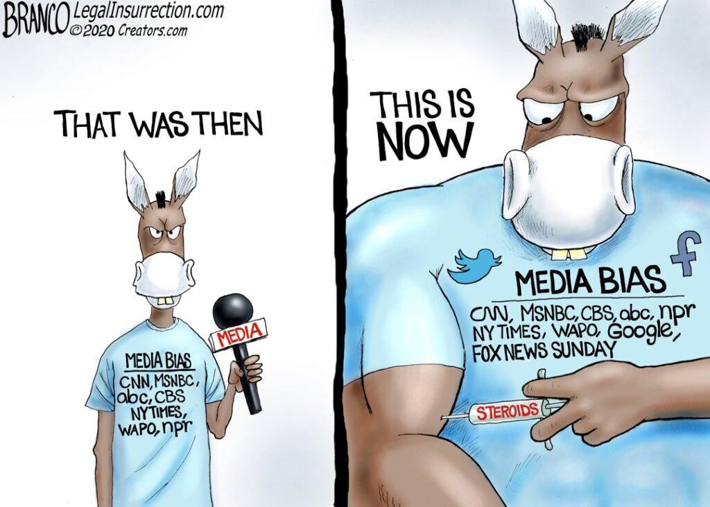 "A.F. Branco Cartoons on Twitter: ""A.F. Branco Cartoon – Shooting Gallery  https://t.co/4dpccNrFR9 #MediaWatch #MediaBias #JournalismIsDead  #HunterBidenEmails #BidenBlackout… https://t.co/MIhmNhScWp"""