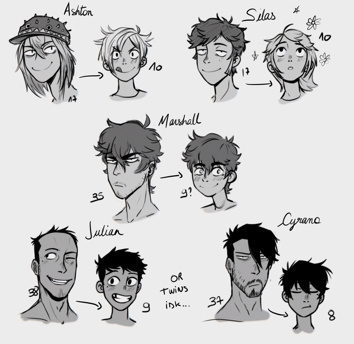 Some of my oc but younger haha ! #drawing #oc #originalcharacters #sketch #doodle https://t.co/4kjvf2YQJ9