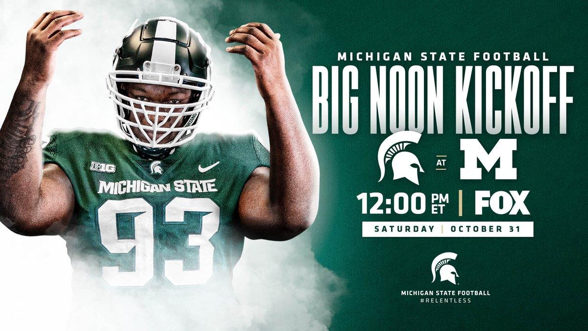 Big noon kickoff on FOX next Saturday in Ann Arbor 👀 #GoGreen