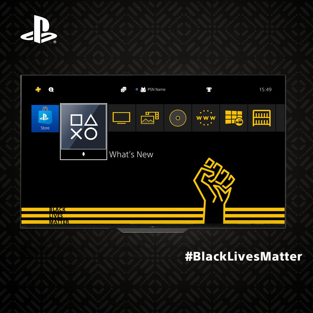 Show your support for the #BlackLivesMatter movement with this new PS4 theme, out now for free at PS Store. https://t.co/mN1PnFHPdl