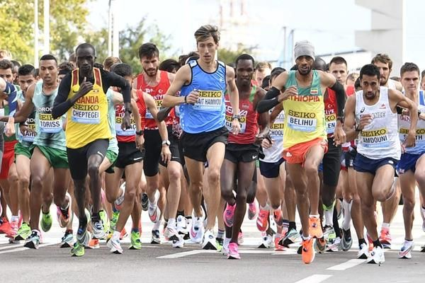 """""""I didn't come to participate, I came to perform.""""   Refugee team member Otmane Nait-Hammou on his half marathon debut.  📰:"""