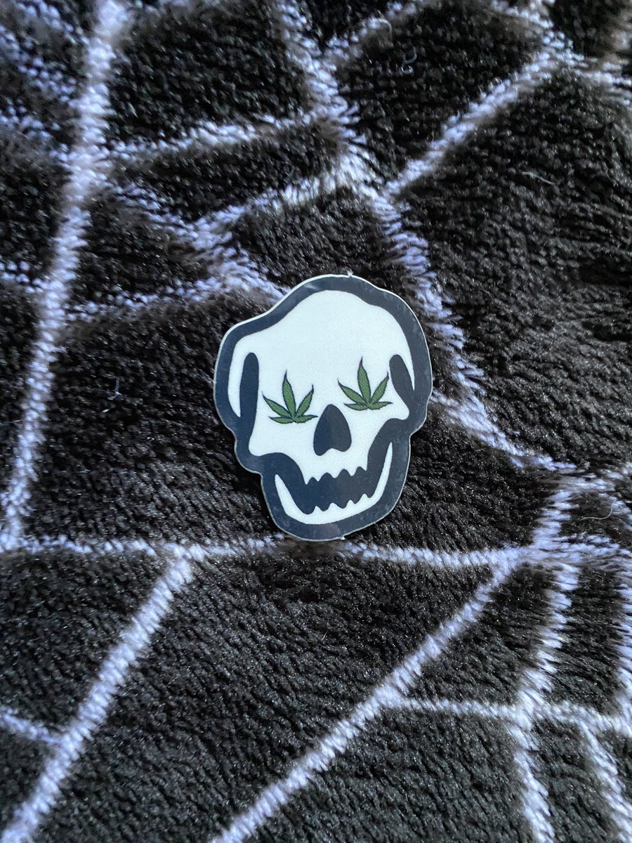 new halloweed sticker available NOW on klrxart.bigcartel.com 👻💀❤️