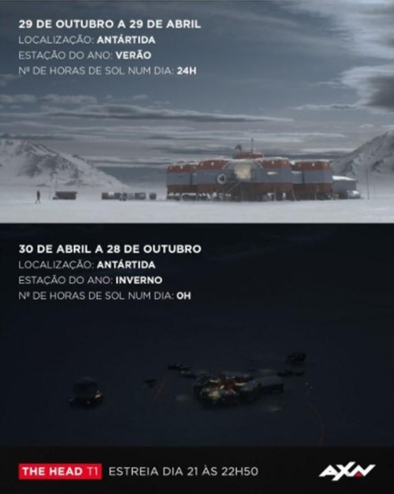 🇵🇹ポルトガル配信元AXNのインスタ訳📣✨ 2⃣日前Count Down✨  10/29~4/29 南極 夏 1日の日照時間:24時間  4/30~10/28 南極 冬 1日の日照時間:0時間  年間平均気温-57℃。日照ゼロの半年を想像できますか? #TheHead 10/21 22:50スタート💥  #山下智久   @axnptをチェック https://t.co/v5RaRVPNjs https://t.co/Rpb0Ydn8Fo
