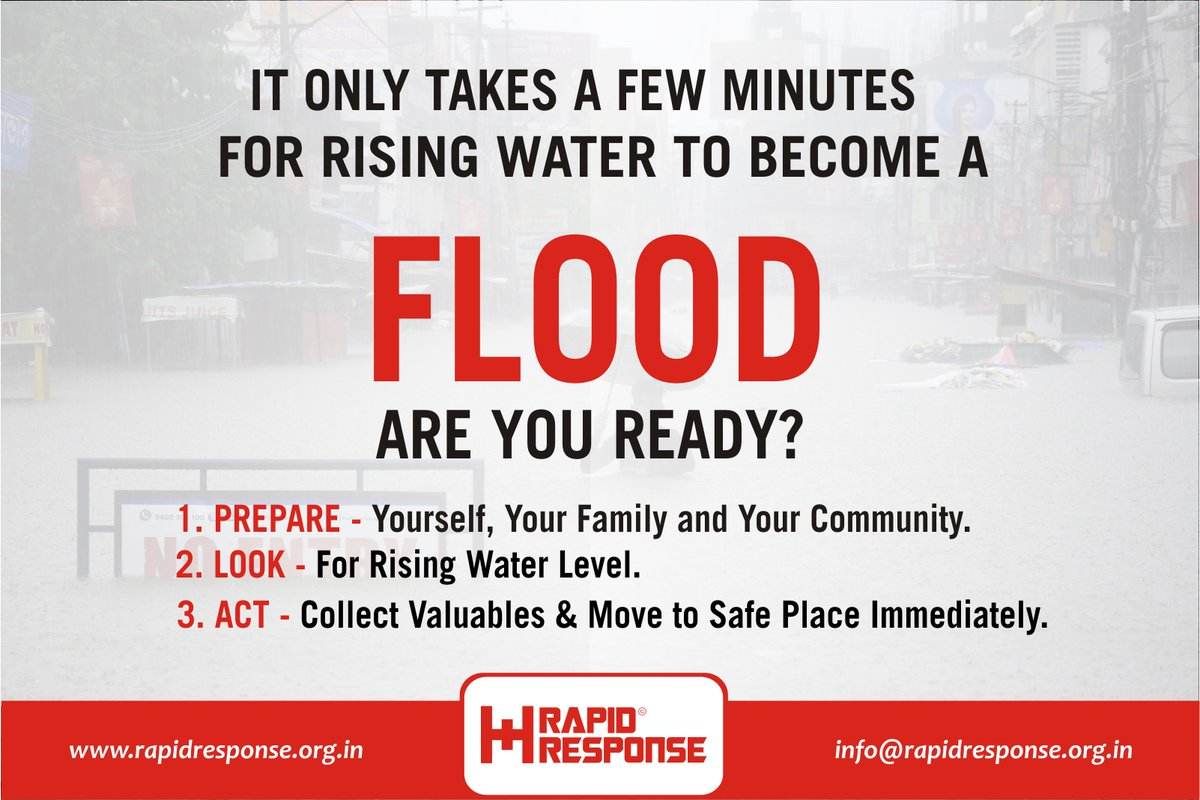 #HyderabadFloods : Preparedness saves lives. Be prepared, Stay safe! #hyderabadflood #HyderabadRains