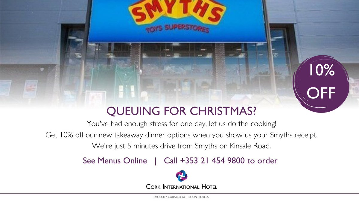 🎁 Rushing to get some #Christmas bits this evening? 🎁 Grab dinner on your way home - delicious home-cooked meals from our Chef Martin! 10% off when you show your #SmythsToys receipt 🎁 See menu: https://t.co/j9ImeLE2o8 https://t.co/hNGCrLD4AE