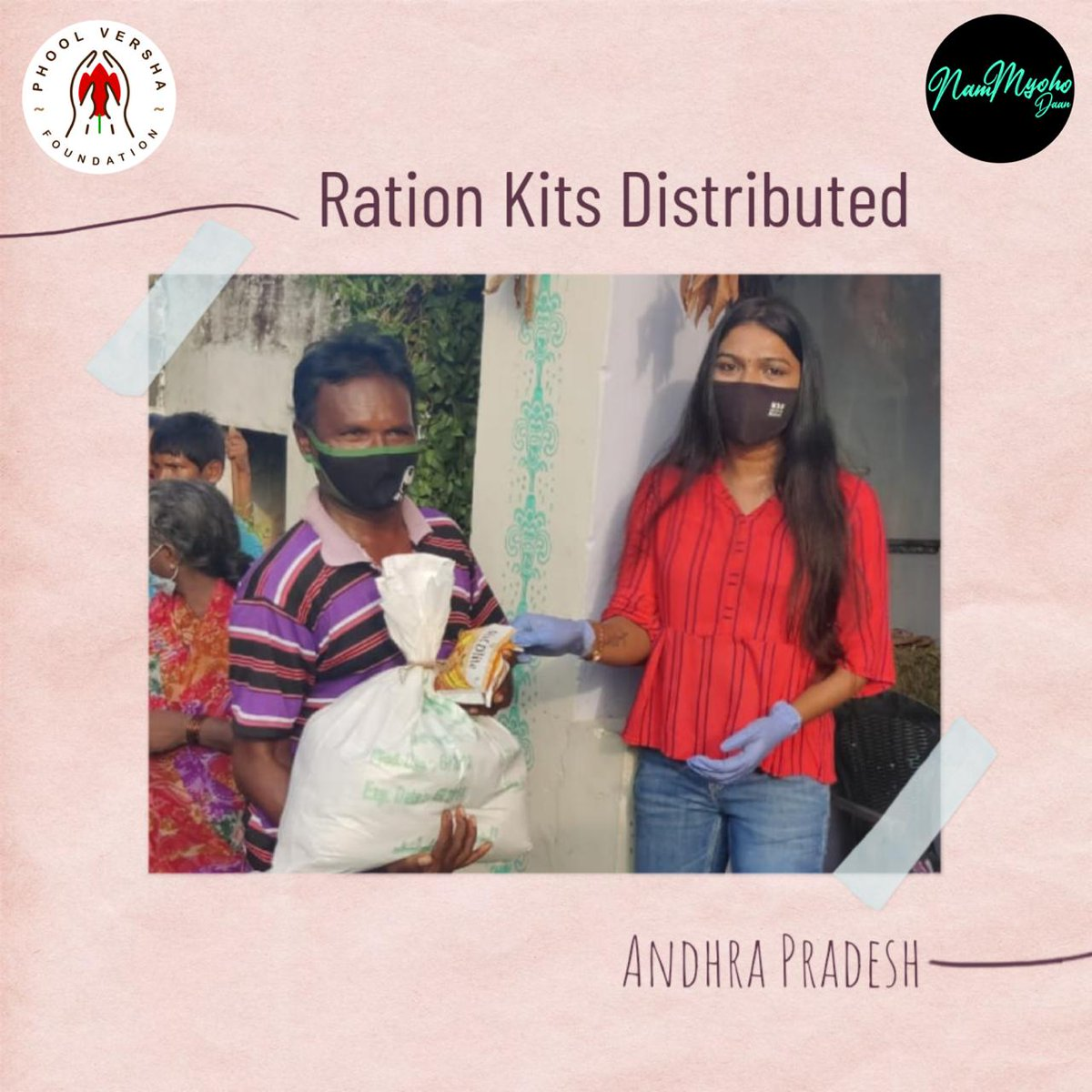 One of the best feelings in the world is giving. With just one act of kindness, you can inspire others to go out and plant seeds of happiness through giving, too. It's your kindness that recently we had the pleasure of distributing ration kits in Andhra Pradesh. Keep Donating!!