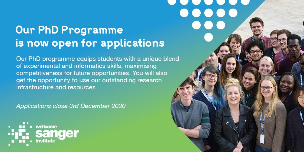 Our #PhD programme is open for applications!  📅 Applications close 3rd December 2020 (09:00 GMT)  🔗For more info see 👉 https://t.co/cGAvGGyt4E https://t.co/hOHet6E5U5
