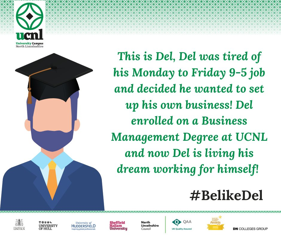 It's still not too late to enrol for this academic year, so you too can #BelikeDel #weareUCNL #whatsstoppingyou #futureself #Epicinthree https://t.co/HuYfIkyhrV