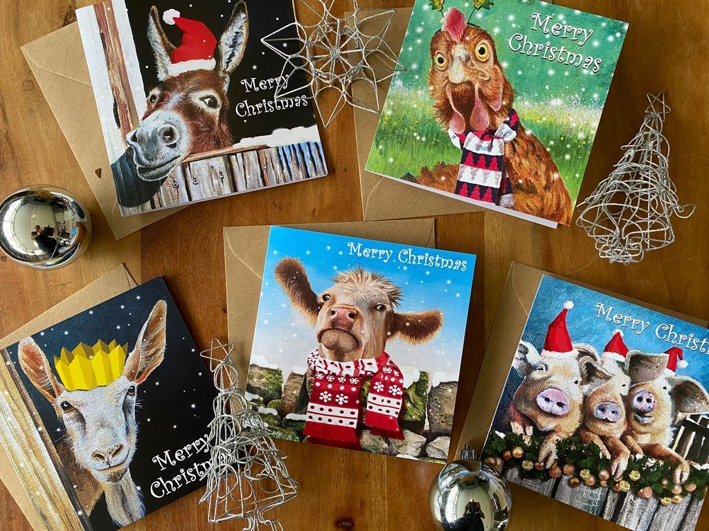 We have our second print run of our farmyard Christmas Cards, now available at our online store at 2 sets for £15 .. spread some cheer at https://t.co/pvJPDyw3uG #lincsconnectchristmas #Christmas2020 #christmascards #FarmLife #lincsconnect #lincsartcrafthour ☃️🎅🏼🎄🎁 https://t.co/c3IoicMKPU