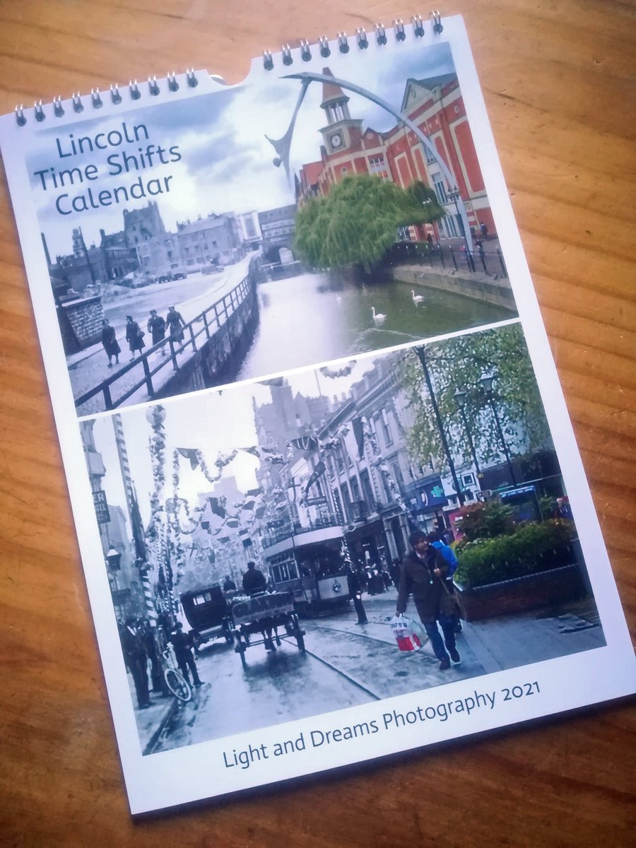 #LincsArtCraftHour Sorry I barely made it today, but just a reminder that my unique A3 Lincoln Time Shifts calendar is available for local delivery, only £15 #LincsConnectChristmas https://t.co/xn11Ahm4WO