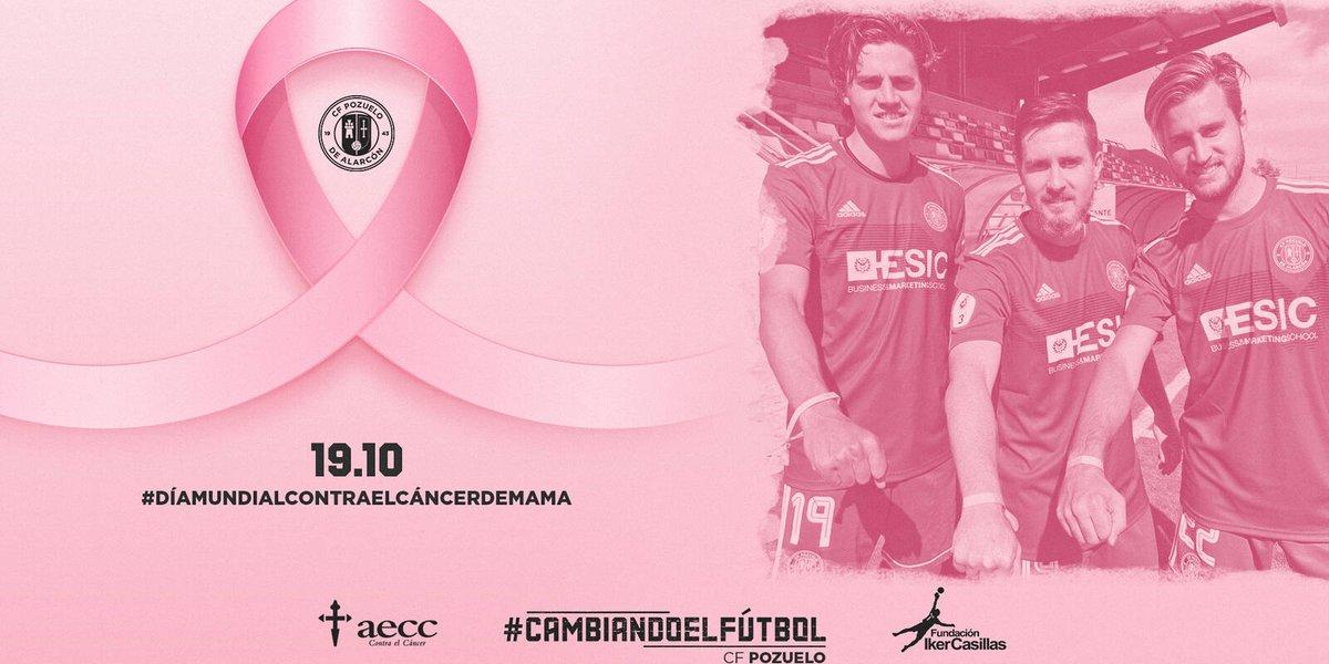 📌 El C.F Pozuelo y la Fundación Iker Casillas lanzan un reto solidario con motivo del Día Mundial del Cáncer de mama #CFPozuelo
