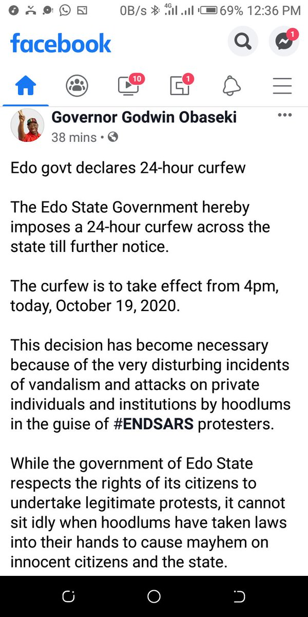 @GovernorObaseki  Y?.. Its just few months & u hav failed ur people.Y? please prove to be different.. We supported your campaign to in #EdoDecides2020 200%. Do not tag the release of Prisoners in #EDO on our peaceful protest #EndSARS .Who opened the Prison Cells and Gates? https://t.co/HIeHT8FC2c