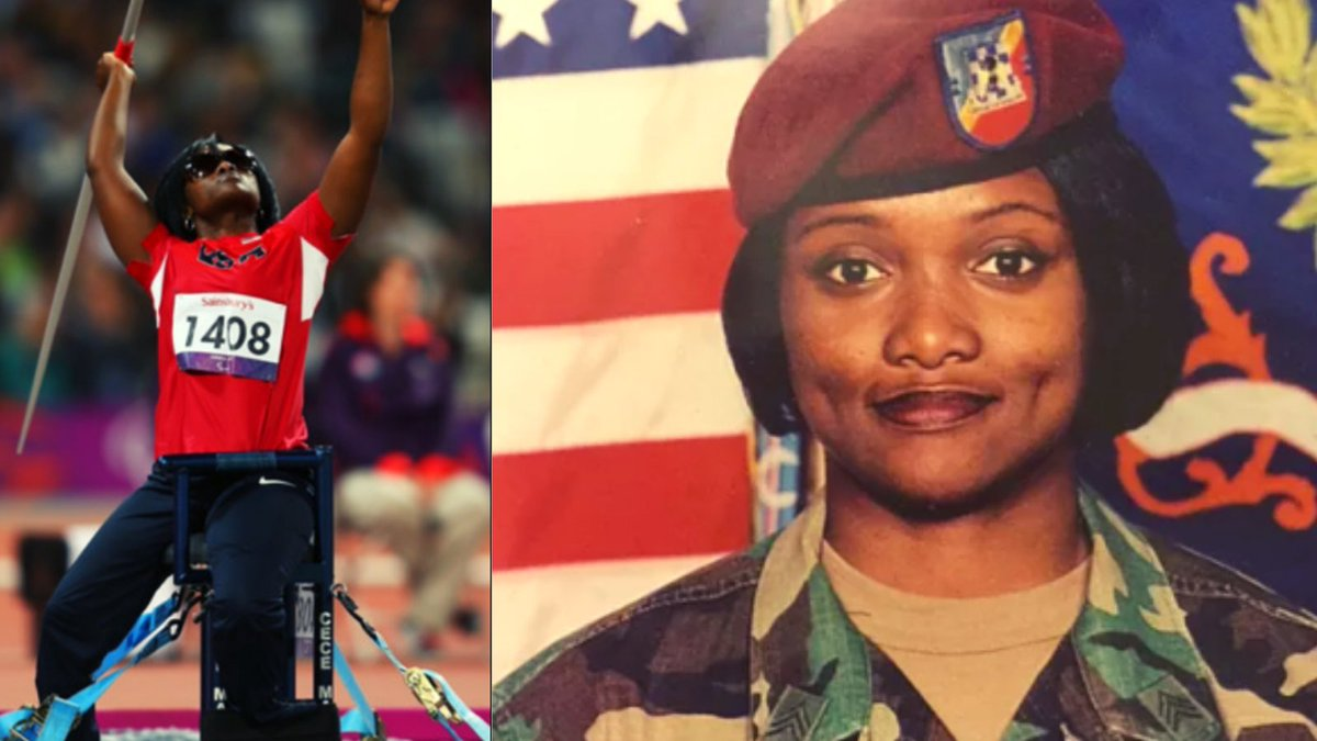 """#VBATribute   @USArmyReserve Veteran Centra """"Cece"""" Mazyck was a paratrooper for 10 yrs until a broken parachute during a routine jump left her paralyzed. She later discovered her natural talent as a javelin thrower and competed in the 2012 Paralympic Games. https://t.co/iaMnGzvSZm"""