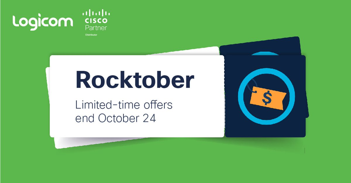 Get it before its gone! Take advantage of #CiscoRocktober promotions, ending October 23rd, with big discounts on #CiscoDesigned Switching & Wireless. Check out what's on offer here: https://t.co/bTD98UK8ia https://t.co/A8vmRjXl3T