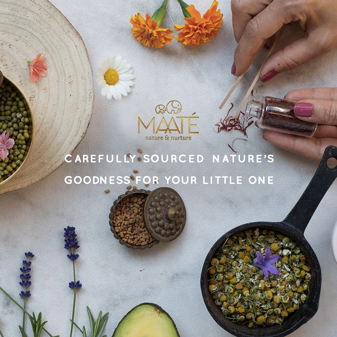 #Ingredients from the lush landscapes nurtured by the sun's rays and blessed by the bird songs. A whiff of freshness, goodness & incessant love bestowed by Mother Nature for your little one.  The splendour of herbs inspired by Ayurveda that care for your baby just like a mother.