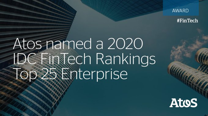 Proud to be named a Top 25 Enterprise in the 2020 @IDC #FinTech Rankings...