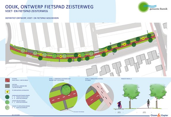 Start aanleg vrijliggende fietspad langs de Zeisterweg in Odijk