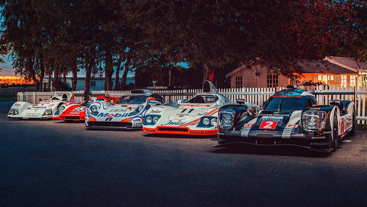 Five Le Mans-winning Porsches were at Goodwood SpeedWeek this weekend! 😍  📸@PorscheGB    #Porsche #LeMans24 https://t.co/D4B5UQLmTF