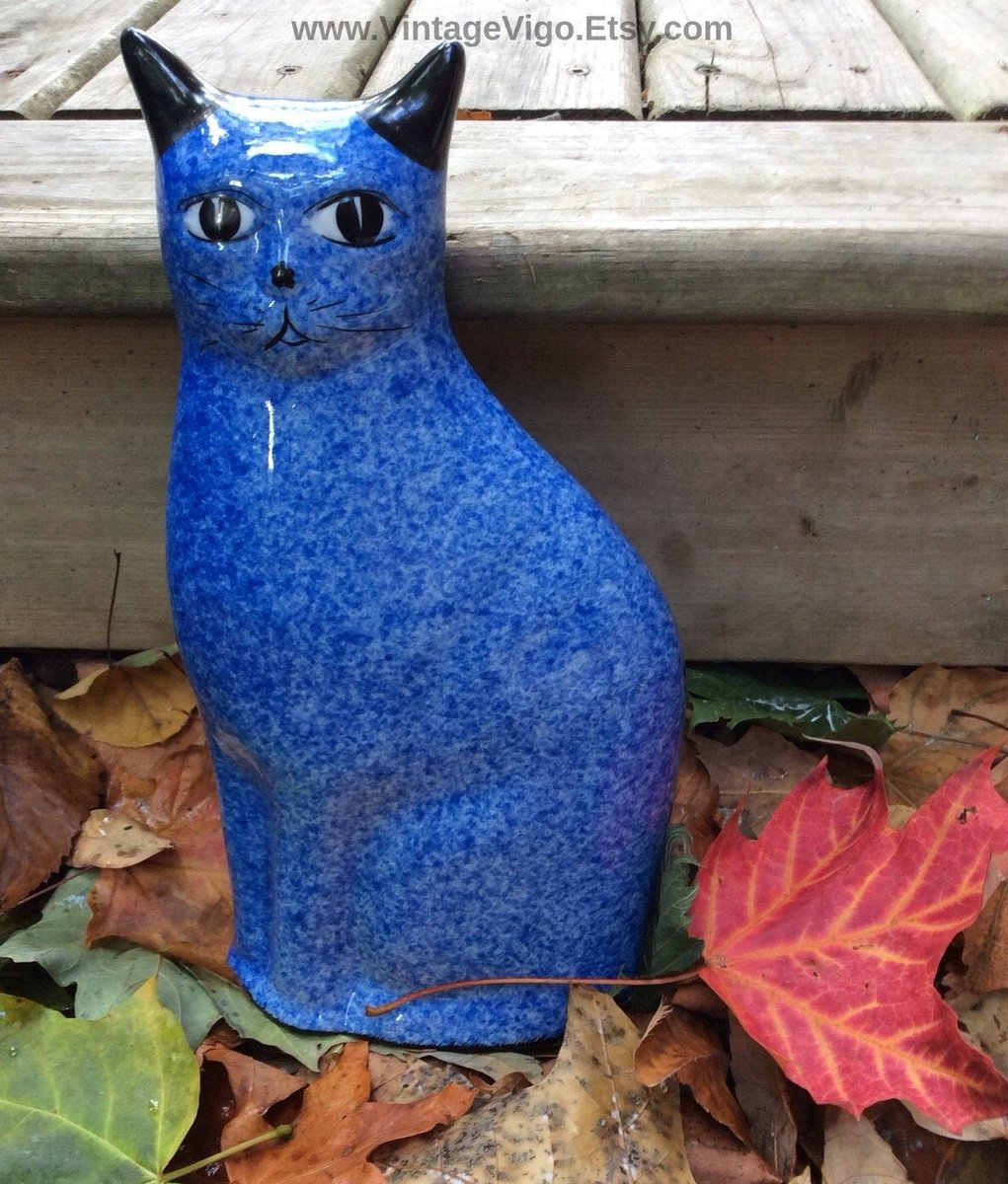 Excited to share the latest addition to my #etsy shop: #Cats #Vintage #Blue #Speckled #Cat #Calico #SpongePainted #Halloween #ArtDeco #thrifter #vintagevigo #youtuber #thriftpicks https://t.co/YZnXyDg26n https://t.co/OYVlVABVEI