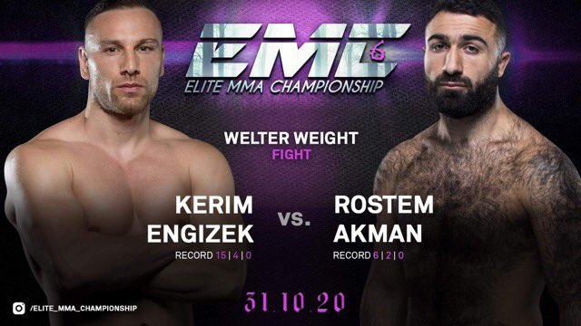 🚨OFFICIAL!!🚨  🇹🇷🇩🇪 Kerim Engizek faces 🇸🇪 Rostem Akman at #EMC6 🔥  Oct 31 ☠️🎃👻 live on @FiteTV & @ranfightingDE https://t.co/G4TGFgYwVq