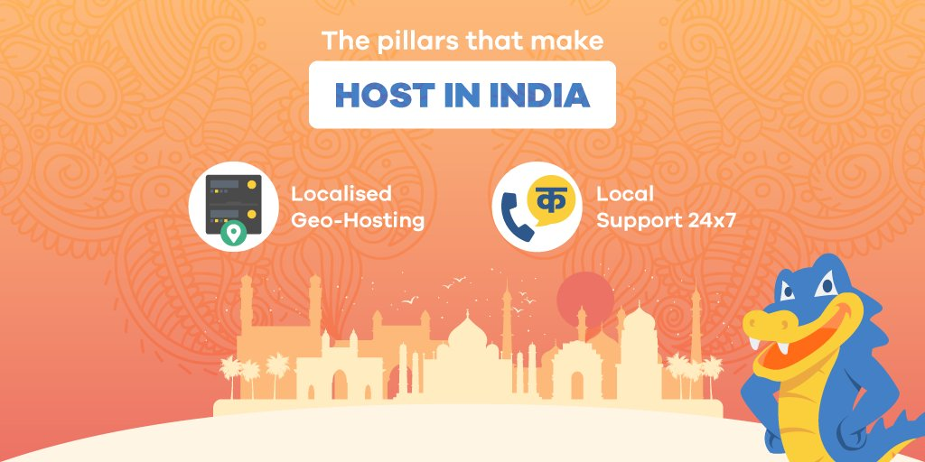 From localised geo-hosting to local language support, HostGator's 'Host in India' gives you a truly localised experience!  Create a #website you are proud of today: https://t.co/16hsVxDzFR  #HostInIndia #hosting https://t.co/U40FKsDNEF