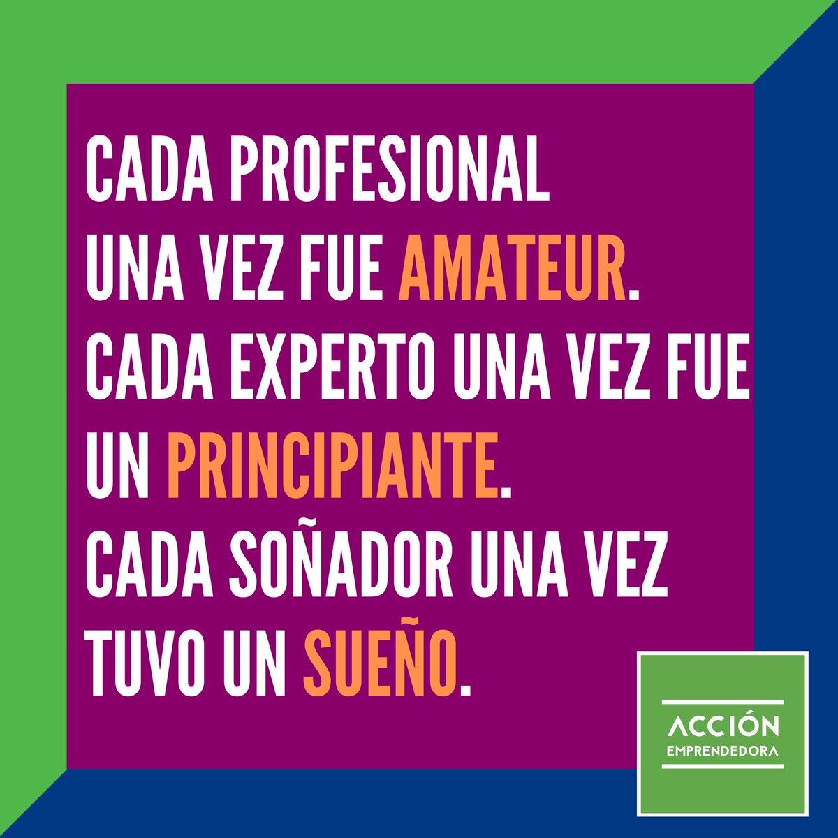 Cada profesional una vez fue amateur, Cada experto una vez fue un principiante, Cada soñador una vez tuvo un sueño.  #EmprendeConAE #Chile #Lunes #Amateur #Principiante #Sueño #Soñador #Experto #Profesional #AccionEmprendedora #bussiness #Vamos #emprendimiento https://t.co/0j3283AFGc