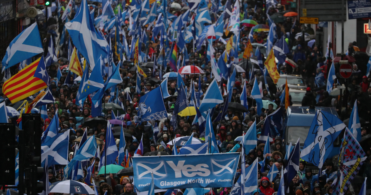 A bombshell survey indicated that nearly 60% of Scots would vote to quit the UK if a referendum on Scottish independence was held this year.  Is Scotland on course to leave Britain? https://t.co/iFFb2sxG4O https://t.co/8hH3i29ONE