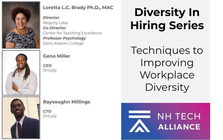 Join us at 1pm today for the first part of our Diversity in Hiring series. https://t.co/Wggf3Gg9kh