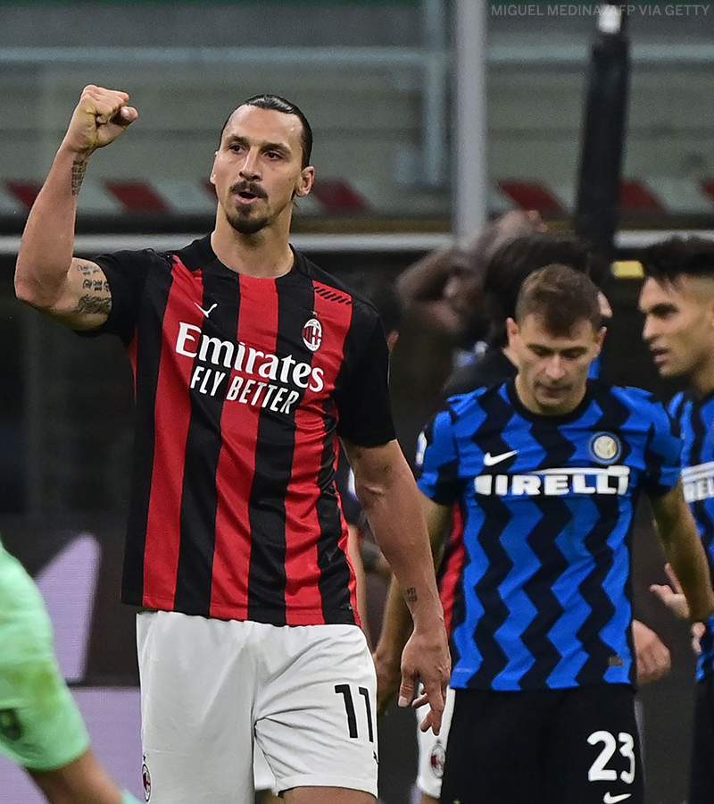 AC Milan are clear at the top of Serie A for the first time since @Ibra_official left the club in 2012. Zlatan is back and so are AC Milan 🦁