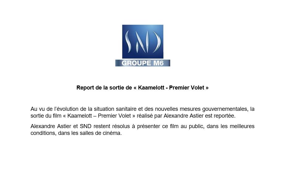 Report de la sortie de #KaamelottPremierVolet https://t.co/ZqpSqm01E0