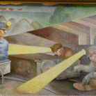 "Inside the Gene Snyder U.S. Courthouse and Custom House, you'll find ""Louisville Murals,"" a 1937 painting by artist Frank Weathers Long, part of the GSA Fine Arts collection.   ▶️ Learn more: https://t.co/0ZzsOOyEY5 #NationalKentuckyDay"