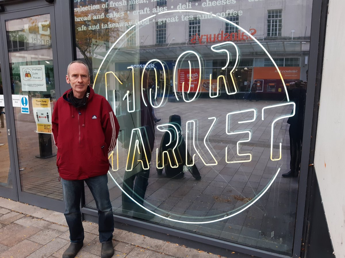 @TheMoorMarket traders in #Sheffield have come together in an online shop to take on the supermarkets and survive the pandemic. Dave Healy is behind chefchef@themoor backed by @citygrab_ from @citytaxis_ Unique, expert, local.