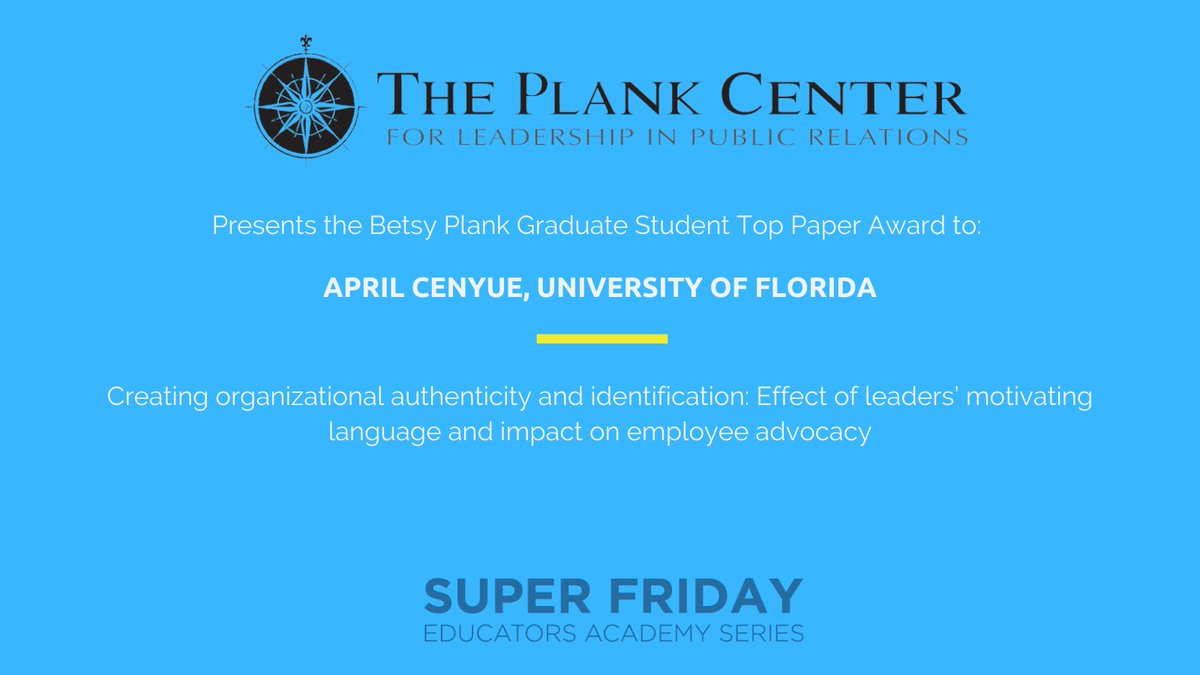 Congratulations @april_cenyue on your Top Grad Student Paper award!