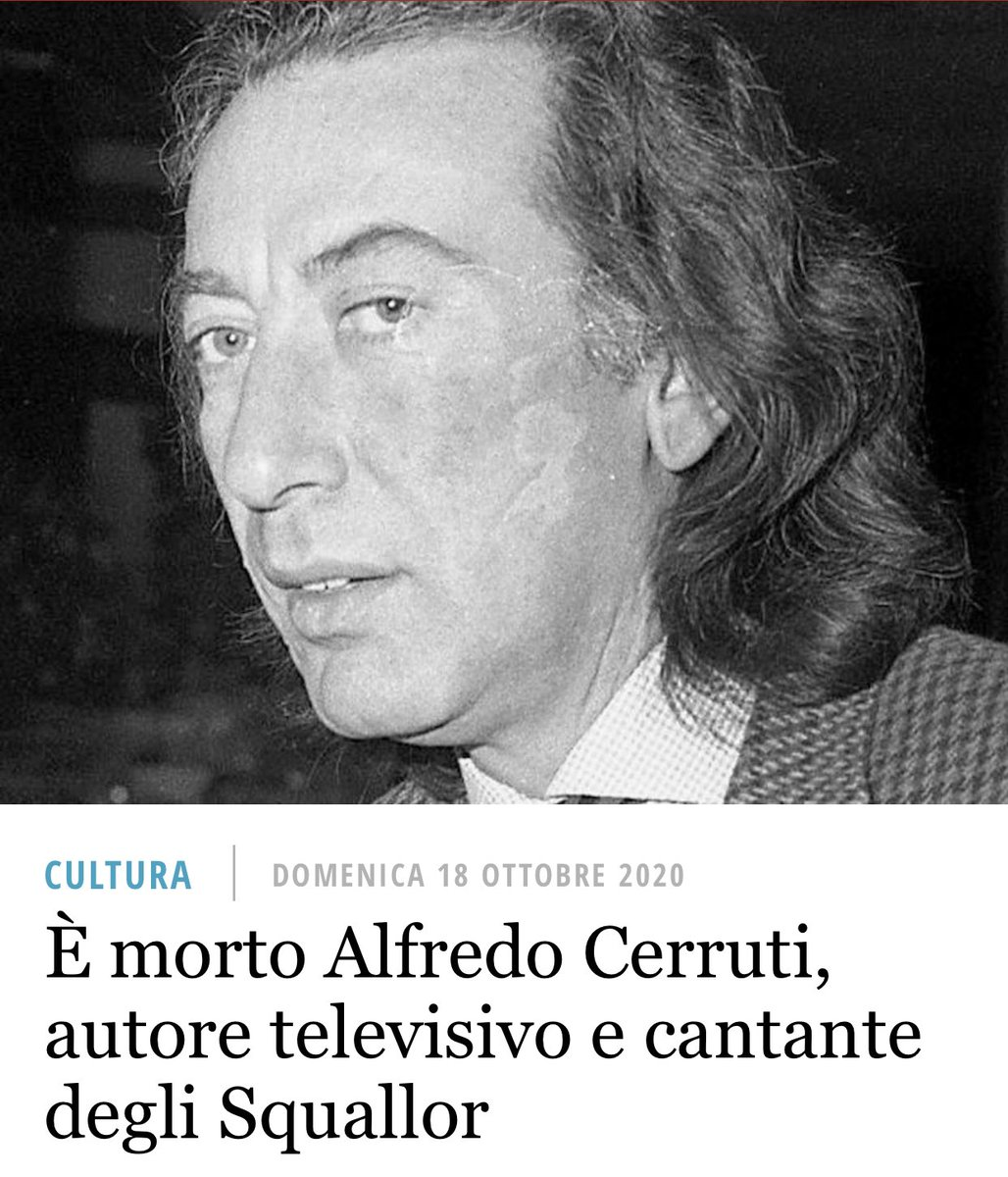 Ho cominciato a lavorare in tv perché scelta da Alfredo Cerruti #rip ❤️ https://t.co/D1L9A7YSmZ