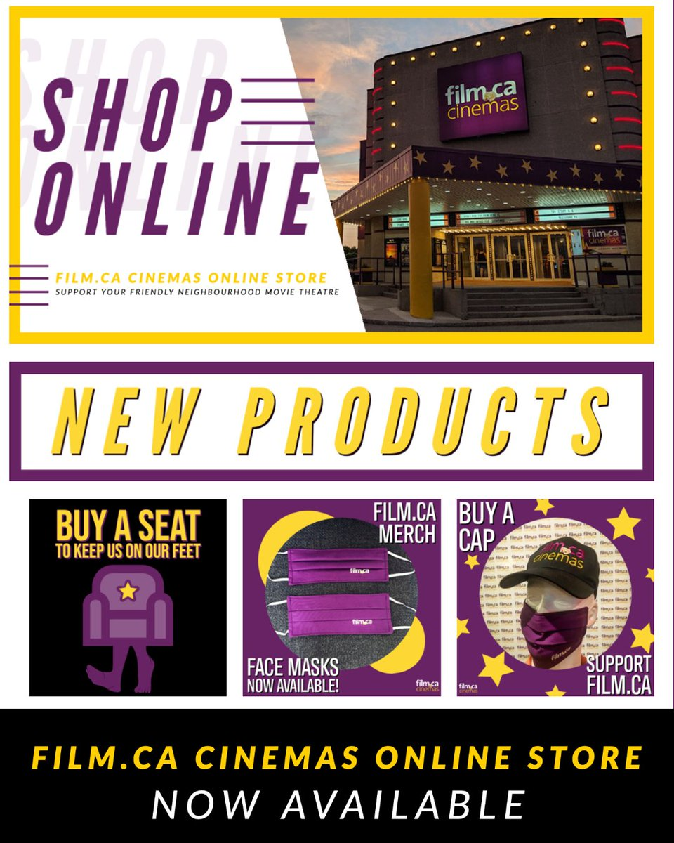 Now you can shop https://t.co/9TNzgavfeD Cinema merch and our Buy a Seat sale all in one spot 😃 Plus, we offer shipping so you can have your order delivered right to your door! 🚪Talk about convenient 👏   Check it out at https://t.co/UpLVcPAFAu 🤗  #supportlocal #smallbusiness https://t.co/EMpywES0D1