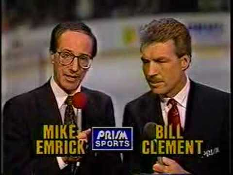 """Happy retirement, Mike """"Doc"""" Emrick; a true living legend in hockey broadcasting. We were honored to have you call @NHLFlyers games locally for 13 years and nationally for long beyond that! https://t.co/8Nx8nzmKm4"""