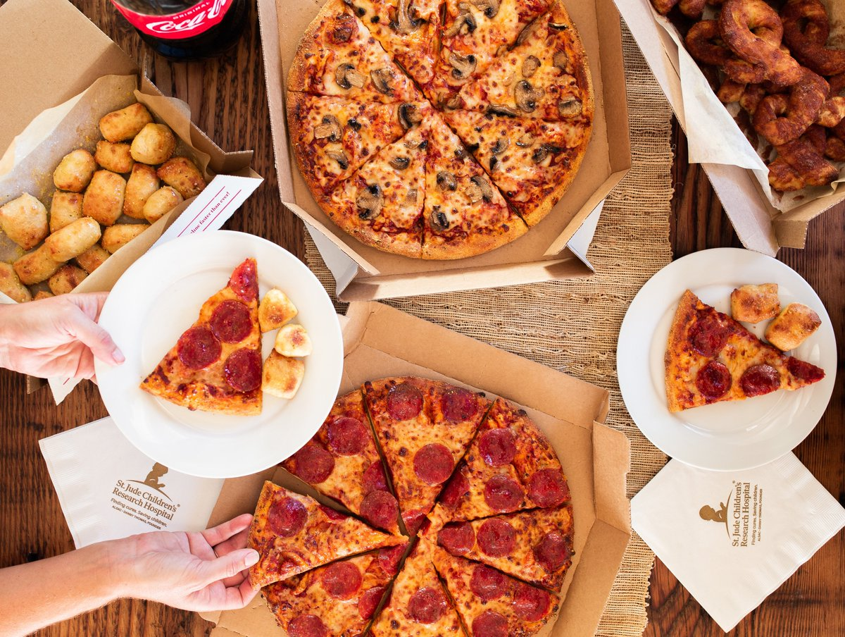 Let's.  Raise.  Dough.  But actually.  Join us in raising 💰 for the kids at @StJude. Add a donation to any Domino's order now thru 1/3 & 100% of donations will support the mission of St. Jude: Finding cures. Saving children. https://t.co/woVdWiT4nJ