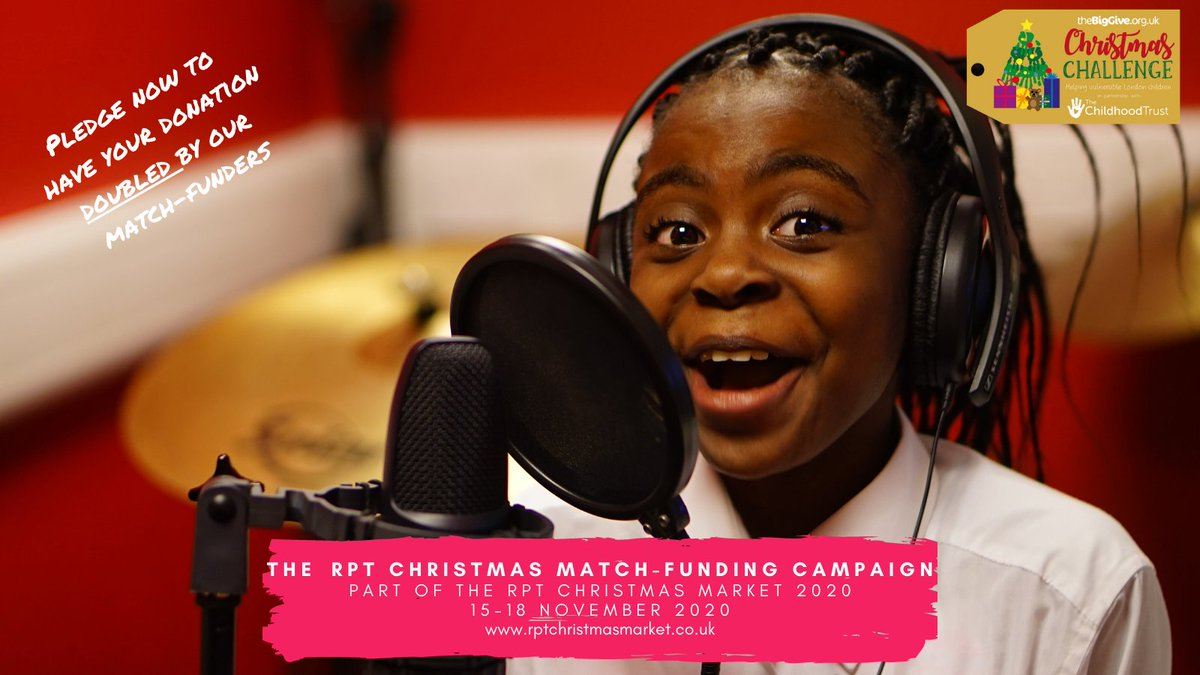 As part of the #RPTChristmasMarket, we've teamed up with @BigGive & @ChildhoodTrust for this year's #ChristmasChallenge2020.  Pledge your donation now by visiting https://t.co/XqnT0YC9Ur & when you make your donation during the live campaign, your donation will be DOUBLED. https://t.co/ORczC1L4V6