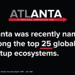 Image for the Tweet beginning: Atlanta is a top global