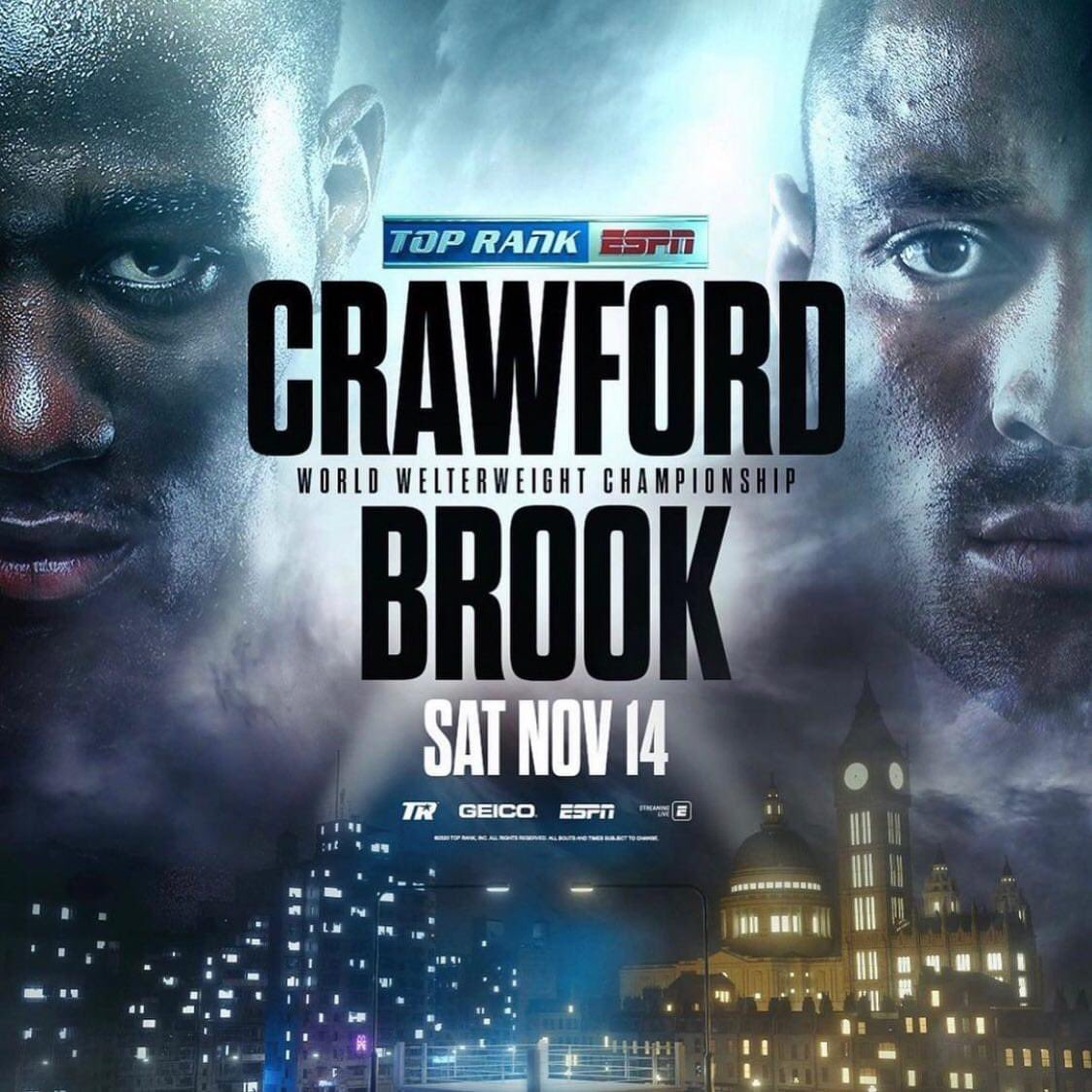 😮 FIGHT ANNOUNCEMENT!  🥊 Crawford v Brook 🗓 November 14  🗺 Vegas  . . #crawfordbrook #announcement #ritsonvasquez #lomalopez #boxing #matchroomboxing #welterweight #worldchampion #boks https://t.co/8nYsZPoPHD