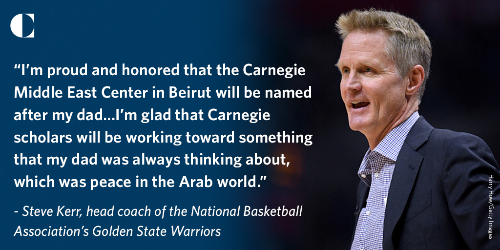 📍We are pleased to announce the renaming of our center to the Malcolm H. Kerr Carnegie Middle East Center in honor of Malcolm H. Kerr, an American scholar of the Middle East and former president of the American University of Beirut.  More details: https://t.co/BJQQnowUns https://t.co/dFIIZVpFF1