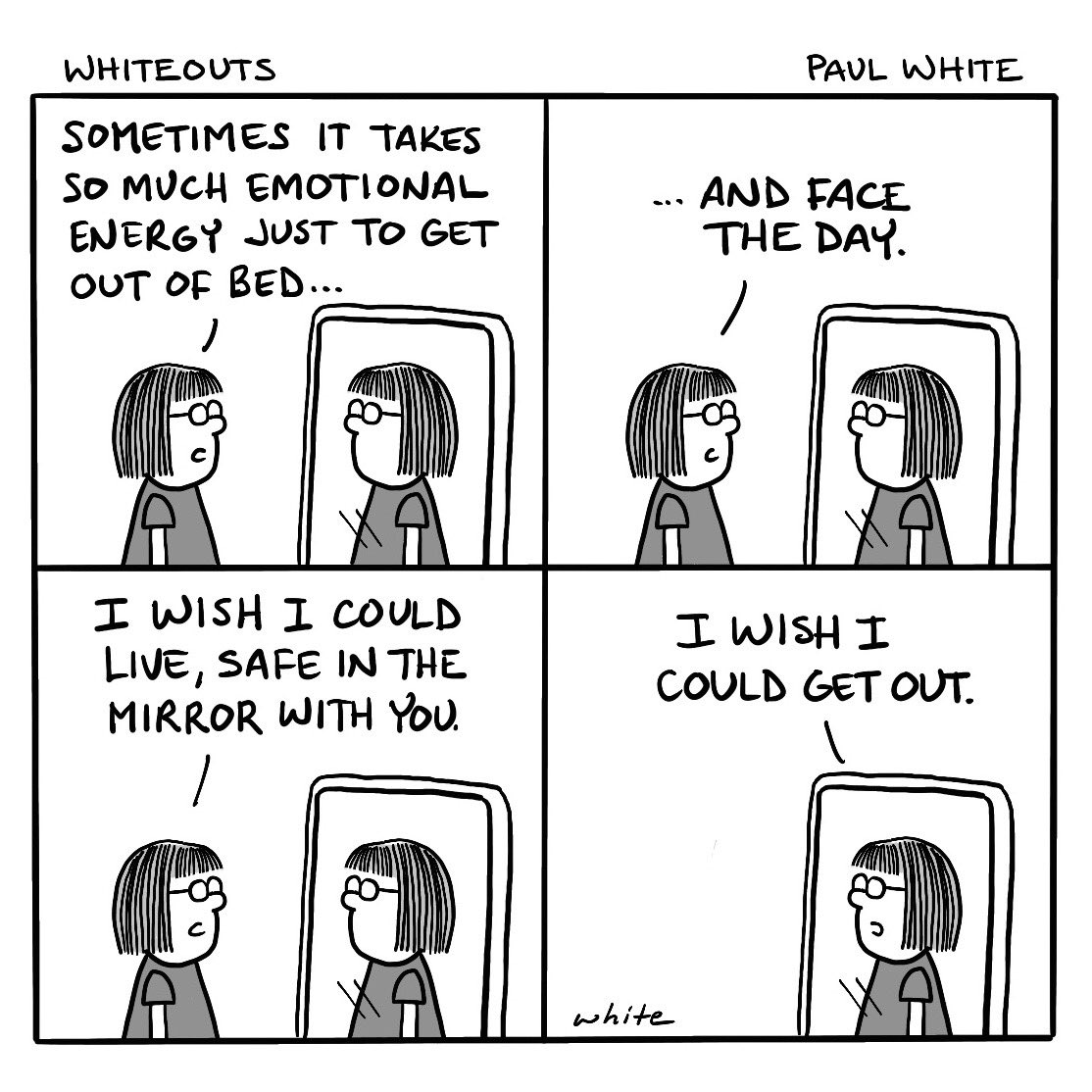 Perspective. #comicstrip #MondayMorning #mirror