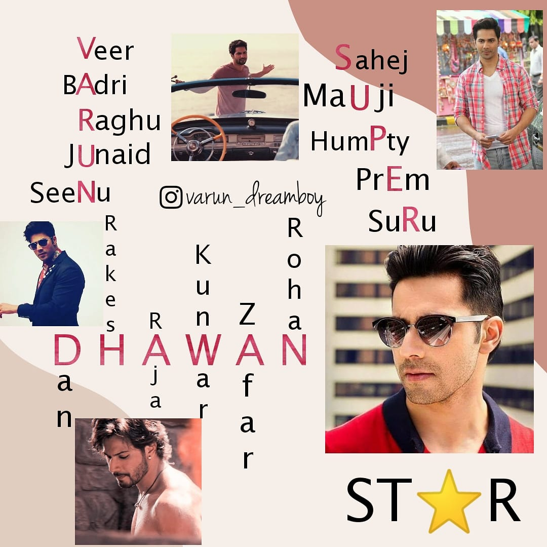 All in one Character.... You always showed us you are awesome 🤩😋😍😘 @Varun_dvn  WE LOVE VARUN DHAWAN #8YearsOfVarunDhawan