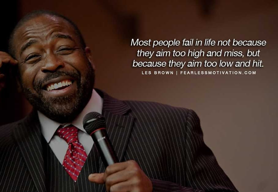 Dream big, don't sell yourself short because someone told you that you can't do it! #positivity #quote #motivation #quote #quotes #lesbrown #motivationalquotes #inspiration #speaker #motivationalspeaker #lesbrownmotivation #positive #positivequotes #goals #goalsetting https://t.co/uyosvQALib