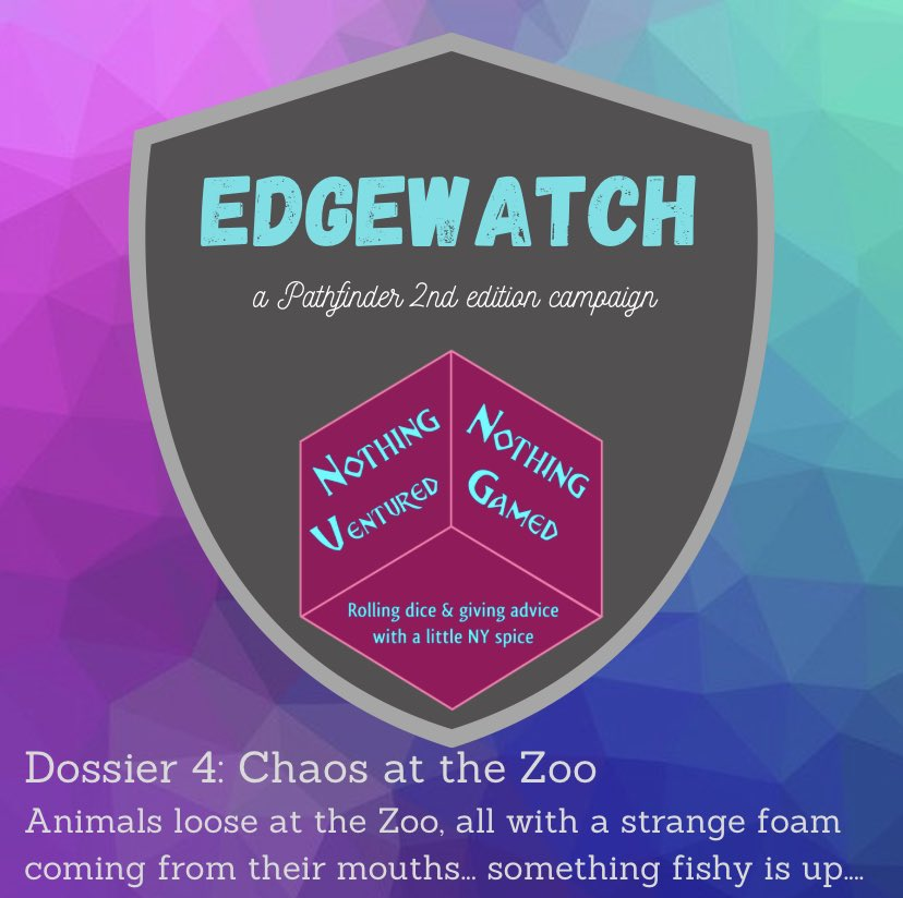 With our heroes tasked with containing the chaos unleashed at the Zoo, they discover something unusual happening.  The latest ep of #AgentsofEdgewatch is now available on your favorite #podcast platforms or watch the VOD on our twitch channel pathfinder2e  https://t.co/vswGyH1Q3r https://t.co/bQq9DKlVhH